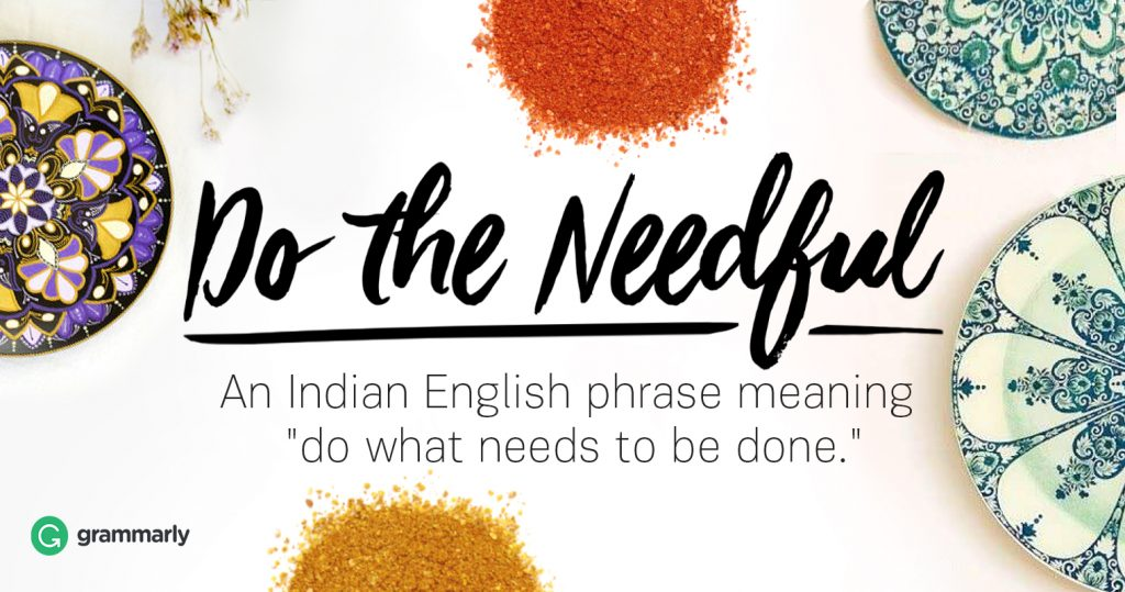 do-the-needful